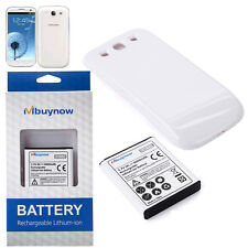 6000mAh Samsung Galaxy S3 Extended Battery Mbuynow Battery with White Back Case