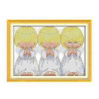 The angel praying counted cross stitch 11ct 14ct for embroidery home FO