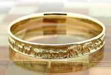 """James Avery 14k Gold Noah's Ark Animals Bangle Bracelet 2 1/2"""" Diam, 43G RETIRED"""