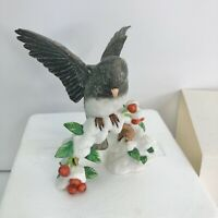 Lenox Garden Bird Sculpture Collection Dark-Eyed Junco Figurine EUC
