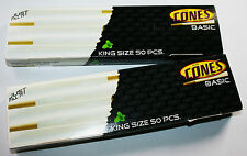 100 Pack Box of Thin King Size Pre Rolled Ready Made Smoking Cones King Size