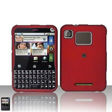 Rubber Red Hard Case Snap on Cover Motorola Charm MB502