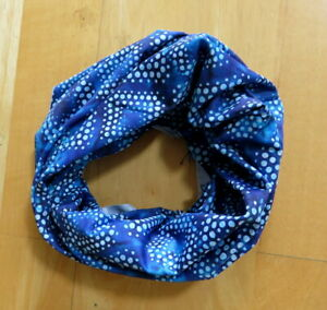 Stylish and Versatile Neck Scarf / Gaiter in Blue Print