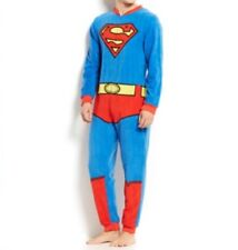 Briefly Stated Men's Superman One-Piece Pajamas, Blue/Red, Small S