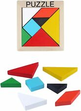 6 X Tangram Wooden Puzzle Brain Teaser - Stocking / Party Bag Filler / Favours