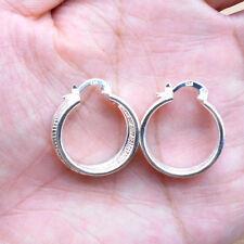 925 Sterling Silver Plated Women Fashion Hoop Dangle Earring Studs Jewelry HE002