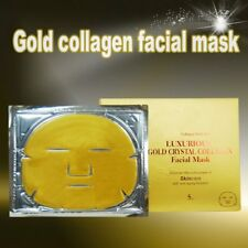 24 carat 99.99% Nano Gold Crystal Collagen Facial Masks - Gift Box 5 Masks