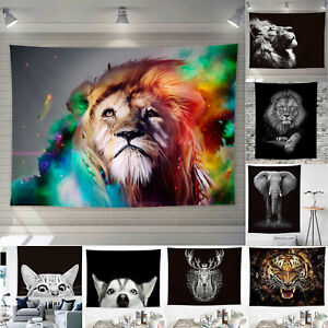 3D Animal Wall Hanging Tapestry Bedspread Throw Table Cloth Blanket Home Decor