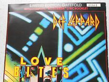 "DEF LEPPARD,""LOVE BITES"" 7"" RARE LIMITED EDITION GATEFOLD LYRIC SLEEVE,NUMBERED"