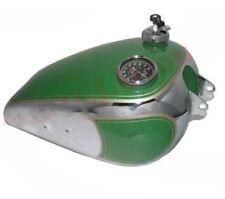 Bsa B31 Petrol Fuel Tank With Speedo & Cap Green Paint Chrome Plated CAD