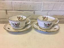 Vintage Copeland Spode Porcelain Pair of Randalls Bird Pattern Cups & Saucers