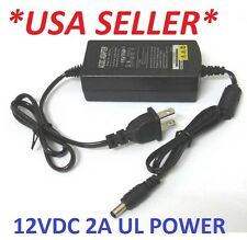 AC 100-240V To DC 12V 2A Power Supply Converter Adapter for Led Lights Strips UL