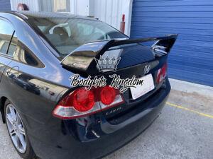 Honda Civic FD1 fd2 type r gloss black plastic spoiler wing - mugen led bar gt