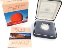 .A 2002 .999% FINE SILVER 11.66g PROOF $1. YEAR OF THE OUTBACK + COA.
