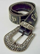 """Humanity For All"" Blinged Out Belt Size S/M Faith Humanity Love and Peace Rare"