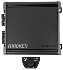 Kicker 46Cxa8001 Cxa800.1 800 Watt Mono Class D Car Amplifier Amp+Bass Knob