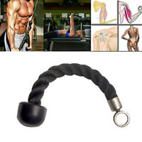 Tricep Rope Single Press Push Down Fitness Gym Bodybuilding Cable Attachment