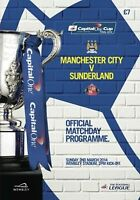 MANCHESTER CITY v SUNDERLAND CAPITAL ONE CUP FINAL 2014