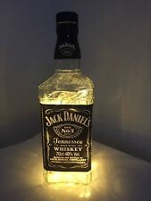 Jack Daniel's Up cycled Bottle Lamp Warm Lights Ideal Gift Man Cave