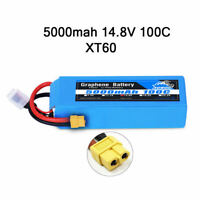Yowoo Graphene 4S 14.8V 5000mAh Lipo Battery 100C-200C for RC Airplane Drone Car