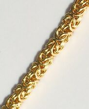 "Vtg Givenchy Gold Tone Necklace Heavy Byzantine Link Chain 24"" Gorgeous Signed"