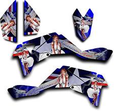 SUZUKI LTR450 R GRAPHICS DECAL KIT AMERICAN HERO PINUP STICKER LTR 450 BLUE