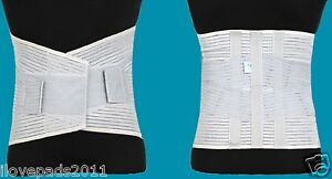 MEDICAL GRADE Lumbar High Back Support Belt 4 Steel Bars Washable Extra Support