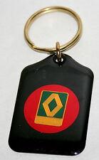 Vintage Renault Automotive Metal Car Key Chain Black FOB 1970s NOS New