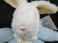 NEW CARTER CLASSICS EASTER BUNNY RABBIT  BABY BOY BLUE RATTLE PLUSH STUFFED ANIM
