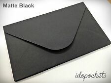 20 x MATTE BLACK RSVP ENVELOPES 11B WEDDING POCKETS CARD 145mm x 90mm