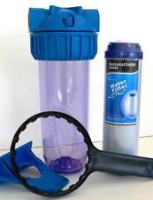 """Filtre à eau 10"""" avec cartouche charbon actif Granulats anti-chlore (G1GAC)"""
