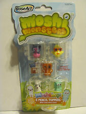 6 Moshi Monsters Moshlings Pencil toppers and cases   2012  *** NEW ***