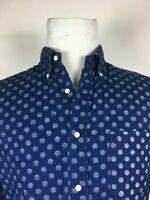 GANT - INDIGO OXFORD - Blue Polka Dot long sleeve shirt  M