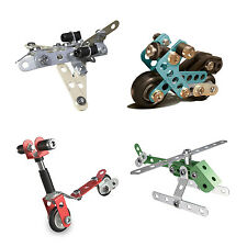 MECCANO REAL METAL STARTER CONSTRUCTION SET - MOTORCYCLE RACE CAR JET SCOOTER