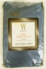 "WAMSUTTA 15"" drop 100% COTTON SATEEN tailored KING BEDSKIRT"