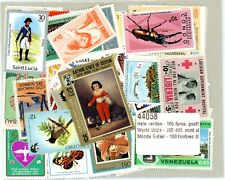 100 World wide different mint stamps.