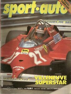 SPORT AUTO 234 1981 24H DU MANS INDY 500 GP MONACO GP ESPAGNE FERRARI MONDIAL 8