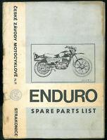 Parts List CZ 250 - 988.1 & 175 - 992.0 ENDURO 1974 Catalogue Pièces en Anglais