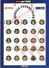 Intergol 2000. Lámina de cromos para chapas. Equipo completo Sevilla Fútbol Club