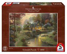 THOMAS KINKADE - FRIEDLICHE ABENDSTIMMUNG - Schmidt Puzzle 58464 - 1000 Pcs.
