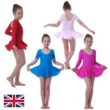 3-8 Years Girls Ballet Dance Dress Leotard Tutu Skirt Kids Gymnastics Outfit UK