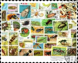 Insects : 200 Different Stamps Collection