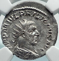 PHILIP I the ARAB Authentic Ancient 244AD Rome Roman Coin w ANNONA NGC i81908