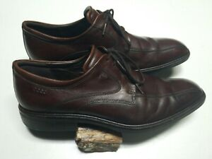 ECCO Men's Brown Leather Lace Up Casual Oxford, Windsor, Size 44 US 10-10.5