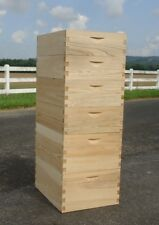 8-Frame Cypress Beehives. 2 Deep 2 Medium 2 Shallow. Durable Beekeeping!