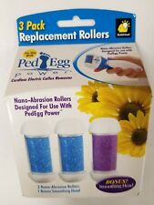 3 PK Replacement Rollers Ped Egg Cordless Electric Callus Remover Nano Abrasion