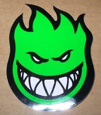 "SPITFIRE GREEN Logo Skate Sticker 4.5 X 6"" skateboards helmets decal"