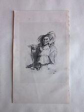 Lithographie sur Chine 1842 Le Diable Boiteux par Brévière gravure