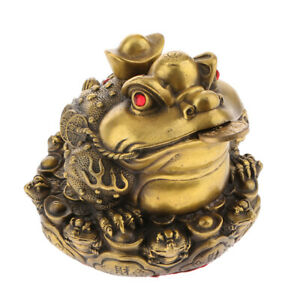 Feng Shui Chinese Frog Toad Ornaments Home Decor Fortune Wealth Crafts Gift