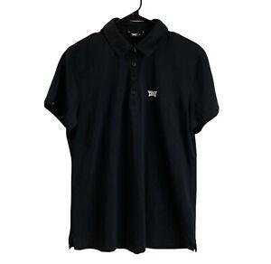 PXG Womens Short Sleeve Polo Shirt XL Extra Large Black Parsons Extreme Golf